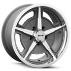 Staggered Ridler 605 F18x8 R18x9 +0mm 5x475 Textured Grey Wheels Rims