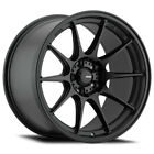 4 Konig 57B Dekagram 15x75 4x100 +35mm Matte Black Wheels Rims 15 Inch