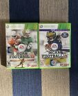NCAA Football 14 & 13, Xbox 360, Games In Cases W Inserts Set *RARE*