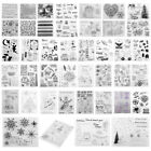 Silicone Clear Stamps Rubber Scrapbook Embossing Transparent Paper Album Card