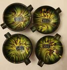 NICE LOT OF 4 VINTAGE VENETIAN WEIL MURANO SMALL ART GLASS ASHTRAYS ITALY New