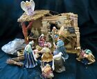 Vintage Home Interiors Homco Christmas Nativity Stable Manger Creche Large