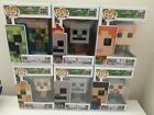Funko POP! Games Minecraft Full Set with Exclusive Flaming Skeleton - Set of 6