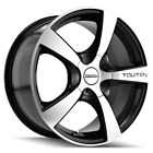 4 Touren TR9 16x7 4x100 4x45 +42mm Black Machined Wheels Rims 16 Inch