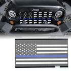Xprite Mesh Grille Insert with Law Enforcement Blue Stripe For JK 07 18 Jeep