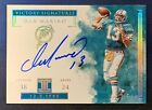 2019 Dan Marino Panini Impeccable Victory Signatures Auto 1 5 On Card Auto