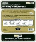 Pioneer 8 1 2x11 Black Memory Book Refill Packs RB 85 10 PAGES 5 SHEETS NEW