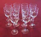 SET 10 Fostoria Holly Cut Etched Goblet Claret Wine Glass 6 Inch