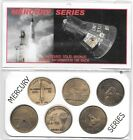 NASA Project Mercury Series Antique 15Bronze Minted 6 Coin Commemorative Set