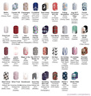 Christmas  Winter Jamberry BeneYOU nail wraps HALF sheets revised 11 9