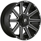 4 Fuel D616 Contra 20x9 6x135 6x55 +1mm Black Milled Wheels Rims 20 Inch