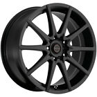 4 Focal 428SB F 04 18x8 5x45 5x120 +42mm Satin Black Wheels Rims 18 Inch