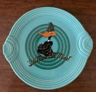 Fiesta Looney Tune Daffy Duck Handled Cake Plate on Turquoise Retired Exclusive