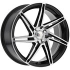 4 Focal 449U F 14 18x8 4x100 4x45 +42mm Black Machined Wheels Rims 18 Inch