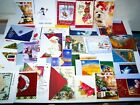 143 New Christmas Birthday Greeting Cards w Envelopes Dogs Cats Santa Flowers