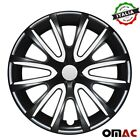 16 Inch Hubcaps Wheel Rim Cover Black with White for Nissan Sentra 4pcs Set