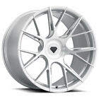 22 Blaque Diamond BD F18 Silver 22x9 Concave Forged Wheels Rims Fits Audi Q5
