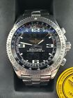 Breitling SS Chronometre B-1 Digitial & Analog Watch With Box Papers A78362
