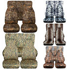 CC Front +Rear car seat covers hunting camouflage fits wrangler YJ TJ LJ
