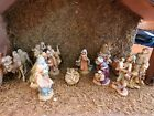 Stable with Fontanini Figurines 5 Heirloom Collection Nativity 14 piece Total