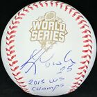 Kendrys Morales Autographed Signed 2015 WS OMLB Insc 2015 WS Champs Royals PSA
