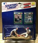 1989 STARTING LINEUP ONE ON ONE GARY CARTER ERIC DAVIS MINT ON CARD
