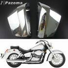 2Pcs Chrome Battery Side Fairing Cover For Honda Shadow Aero VT400 VT750 2004-11