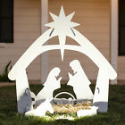 4ft Christmas Nativity Scene Outdoor Yard Decoration w Water Resistant PVC