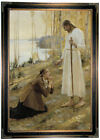 Edelfelt Christ and Mary Magdalene 1890 Wood Framed Canvas Print Repro 19x28