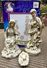 Large Holy Family Nativity Scene Statues Christmas Accent 3pc Set Resin Figures