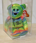 Ty Authenticated Billionaire Bear 17 Signed MWMT MQ Beanie Baby - AP 11514
