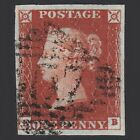 P11 GB QV 1841 1d PENNY RED BROWN PLATE 62 SG8 EB VFU IN IRELAND 4 MARGINS