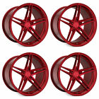 20 Rohana RFX15 Red 20x9 20x10 Concave Wheels Rims Fits Lexus GS300 GS400 GS430