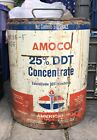 Vintage Amoco 25% DDT Concentrate 5 Gallon Can - Oil