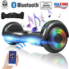 Electric Hoverboard Bluetooth Speaker LED Flash with Bag Smart Scooter 65