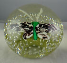 Art Glass Butterfly Paperweight Controlled Bubble
