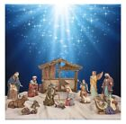 Nativity Set 13 piece set by Kirkland Signature Tabletop Under Tree Indoor NEW