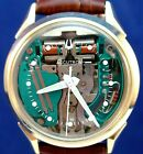 Bulova Accutron SWISS 214H Spaceview custom 10k GF/ss and new leather strap 1965
