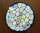 Vintage FRATELLI TOSO Murano Art Glass Paperweight Millefiori Frit Base