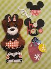 Christmas Minnie Red Gingham Paper Piecing Tear Bear Scrapbook Brooklyns