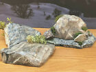 Wargaming Terrain Dept 56 Lemax Village PAINTED Scenery Rocks Diorama