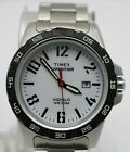 Timex Expedition Analog White Dial Unisex Watch T49924 Date Black Bezel Rare