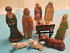 ATQ COLLECTION OF NATIVITY FIGURES GERMAN PUTZ FRENCH JAPAN 3 4 TO 3