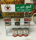 TEXACO OIL SIGN RACK 1950'S TO MID  1960'S