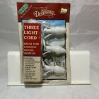1994 Lemax Village Collection Dickensvale Collectibles Three Light Cord 118in
