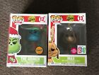 FUNKO POP THE GRINCH Dr.SEUSS CHASE #12 And MAX #13 GoCalendar EXCLUSIVE FLOCKED