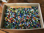 Huge Lot of 16 pounds of glass marbles most vintage 1970s or before