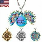 You are my sunshine Sunflower Open Locket Pendant Necklace Mothers Day Hot Gift