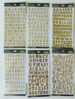 Sticko GOLD ALPHABET  GOLD NUMBER Stickers You Choose Style