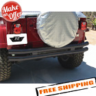 Rampage 7649 Front Rear Double Tube Bumper for 1987 2006 Jeep Wrangler TJ YJ
